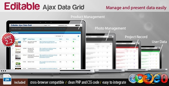 Editable Ajax Data Grid With Multiple Color  - CodeCanyon Item for Sale