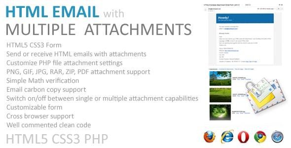 Email with Multiple Attachments (HTML5, PHP) - CodeCanyon Item for Sale