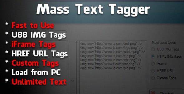 Mass Text Tagger