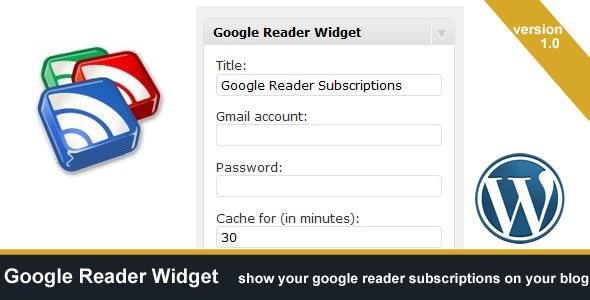 Google Reader Widget - CodeCanyon Item for Sale