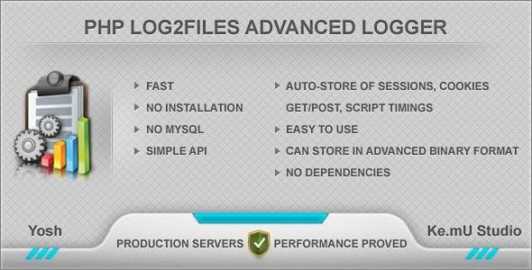 PHP Log2Files Advanced Logger