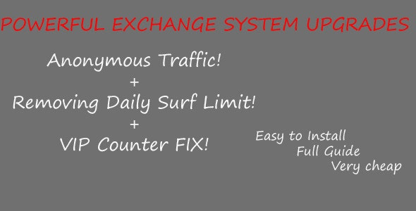 Most Useful Upgrades -Powerful Exchange System! - CodeCanyon Item for Sale