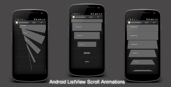 Android ListView Animations by dmytrodanylyk | CodeCanyon