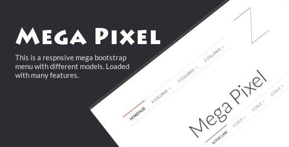 Mega Pixel - Responsive Bootstrap Mega Menu