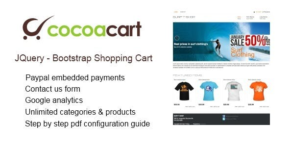 Bootstrap JQuery Paypal Shopping Cart - CodeCanyon Item for Sale