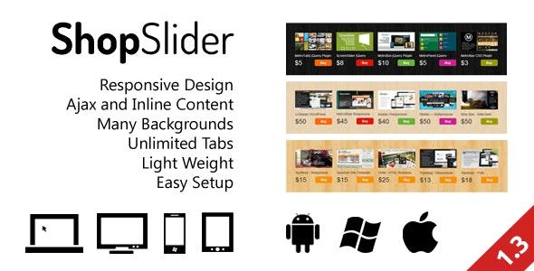 ShopSlider - Responsive Shop Slider with Tab - CodeCanyon Item for Sale
