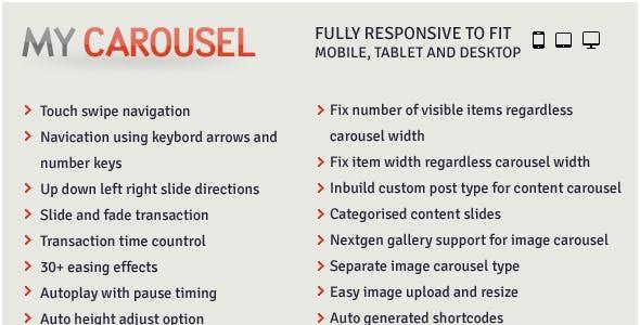 MyCarousel - Responsive Carousel Wordpress Plugin