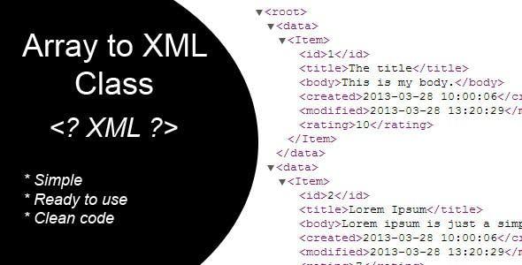 Array to XML Class