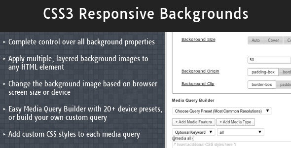 CSS3 Responsive Backgrounds - CodeCanyon Item for Sale