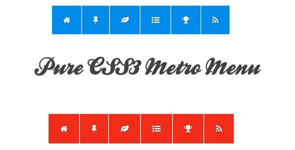 Pure CSS3 Metro Menu - CodeCanyon Item for Sale