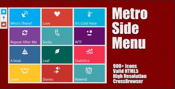Metro Style Side Menu
