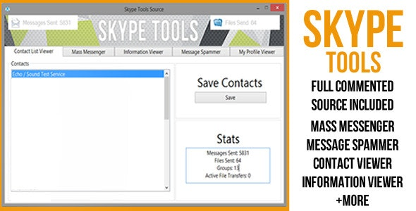 Skype Tools - CodeCanyon Item for Sale