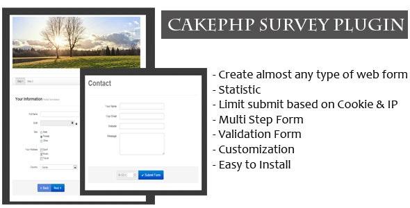 CakePHP Survey Form Generator Plugin - CodeCanyon Item for Sale