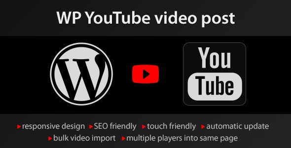 YouTube WordPress plugin - video import - CodeCanyon Item for Sale