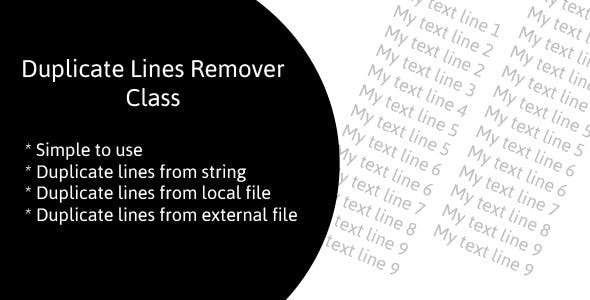 Duplicate Lines Remover Class