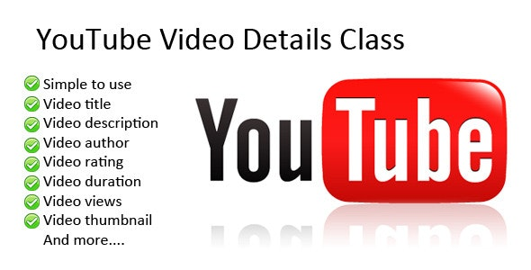 YouTube Video Details Class - CodeCanyon Item for Sale
