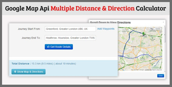 Multiple Distance Direction Calculator By Welancers Codecanyon