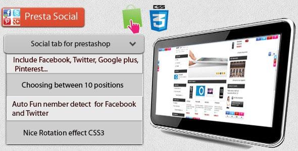 Prestashop Presta Social module - CodeCanyon Item for Sale