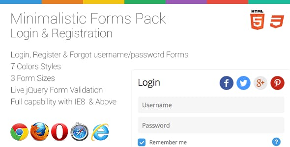 Minimalistic Login/Register Form + Live Validation