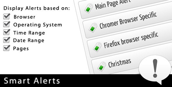 Smart Alerts - CodeCanyon Item for Sale