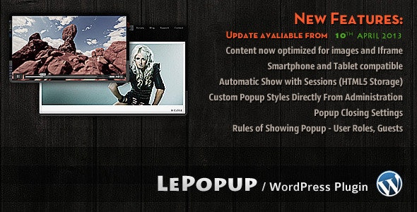 LePopup WordPress - CodeCanyon Item for Sale
