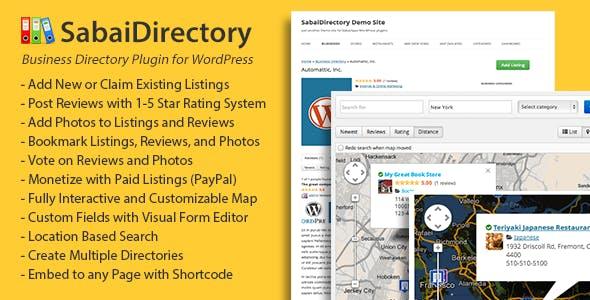 Sabai Directory plugin for WordPress - CodeCanyon Item for Sale