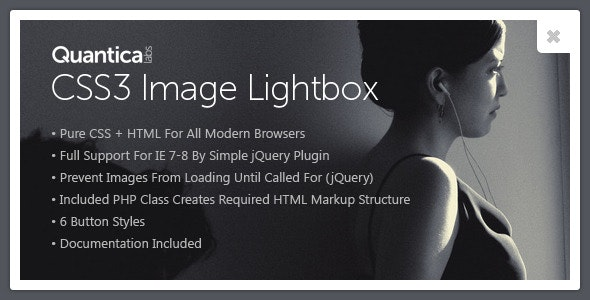 CSS3 Image Lightbox - CodeCanyon Item for Sale