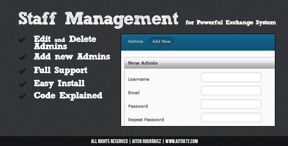 Staff Management for Powerful Exchange System