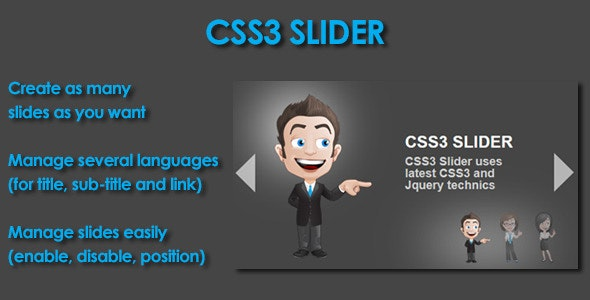 CSS3 Slider - CodeCanyon Item for Sale