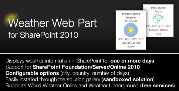 SharePoint 2010/2013 Weather Webpart