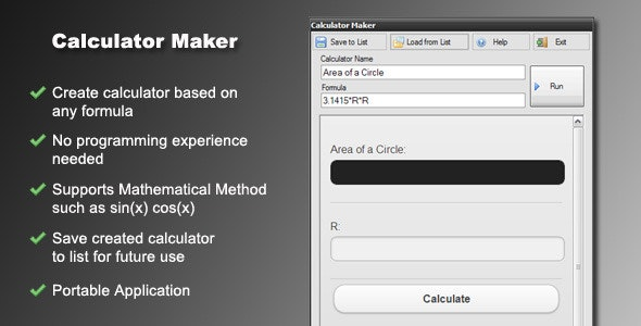 Calculator Maker - CodeCanyon Item for Sale