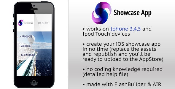 Showcase App for iOS - CodeCanyon Item for Sale