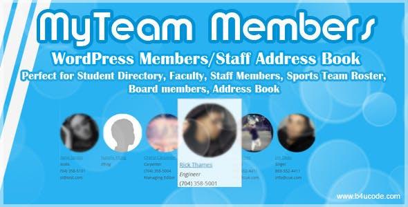 MyTeam - WordPress Members/Staff Address Book