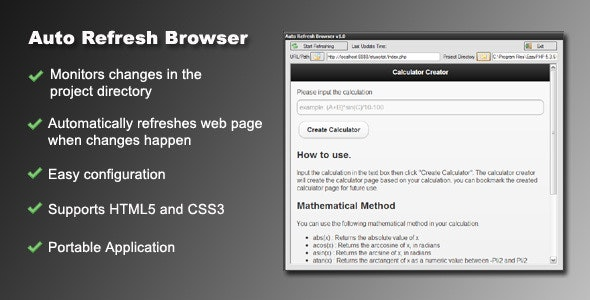 Auto Refresh Browser - CodeCanyon Item for Sale