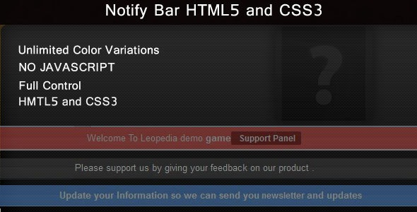 Notify Bar Top and Bottom Plugin - CodeCanyon Item for Sale