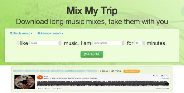 MixMyTrip - Download long music mixes