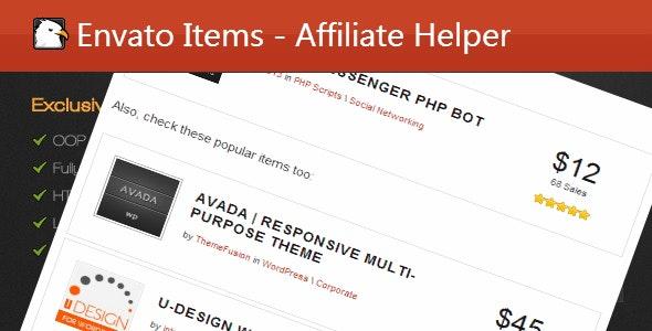 Affiliate Helper Wordpress Plugin - CodeCanyon Item for Sale