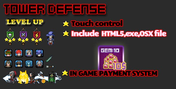 Tower Defense html5 game