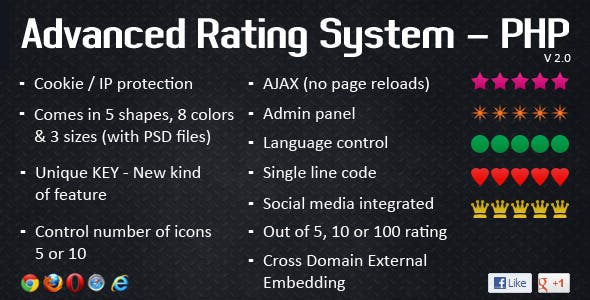Advanced Rating System - PHP