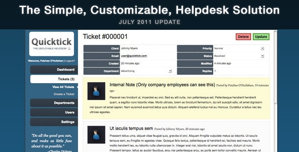 QuickTick - The Deployable Helpdesk - CodeCanyon Item for Sale