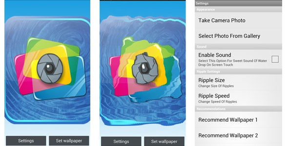Water Ripple Live Wallpaper - CodeCanyon Item for Sale