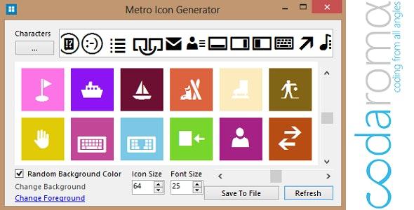 Metro Icon Generator - CodeCanyon Item for Sale