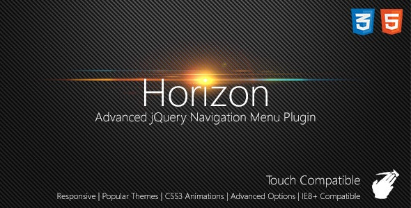 Horizon Slide Navigation jQuery Plugin - CodeCanyon Item for Sale