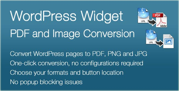 WordPress Converter Widget for PDF, PNG and JPG
