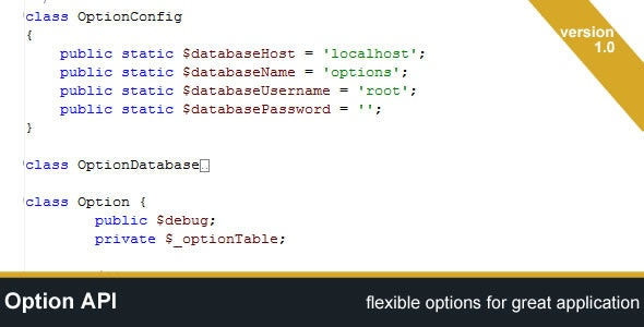 Option API - CodeCanyon Item for Sale