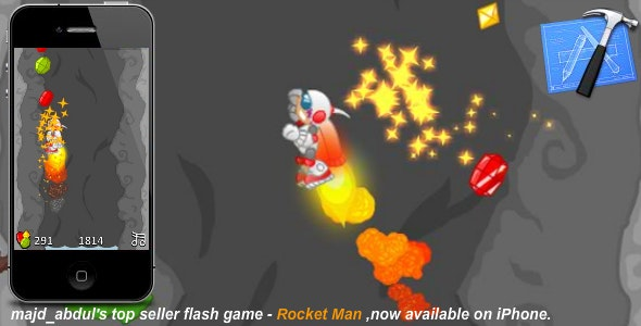 iPhone Game - Rocket Man  - CodeCanyon Item for Sale