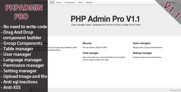 PHP Admin Pro