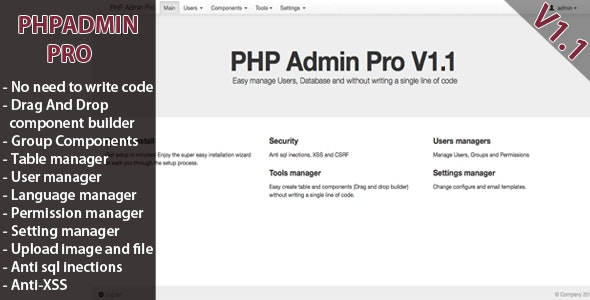 PHP Admin Pro by vudoanthang | CodeCanyon