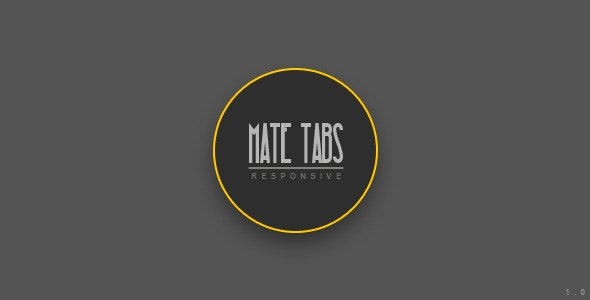 Mate Tabs | jQuery Plugin - CodeCanyon Item for Sale