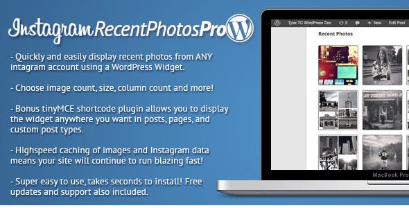Instagram Recent Photos Widget Pro for WordPress